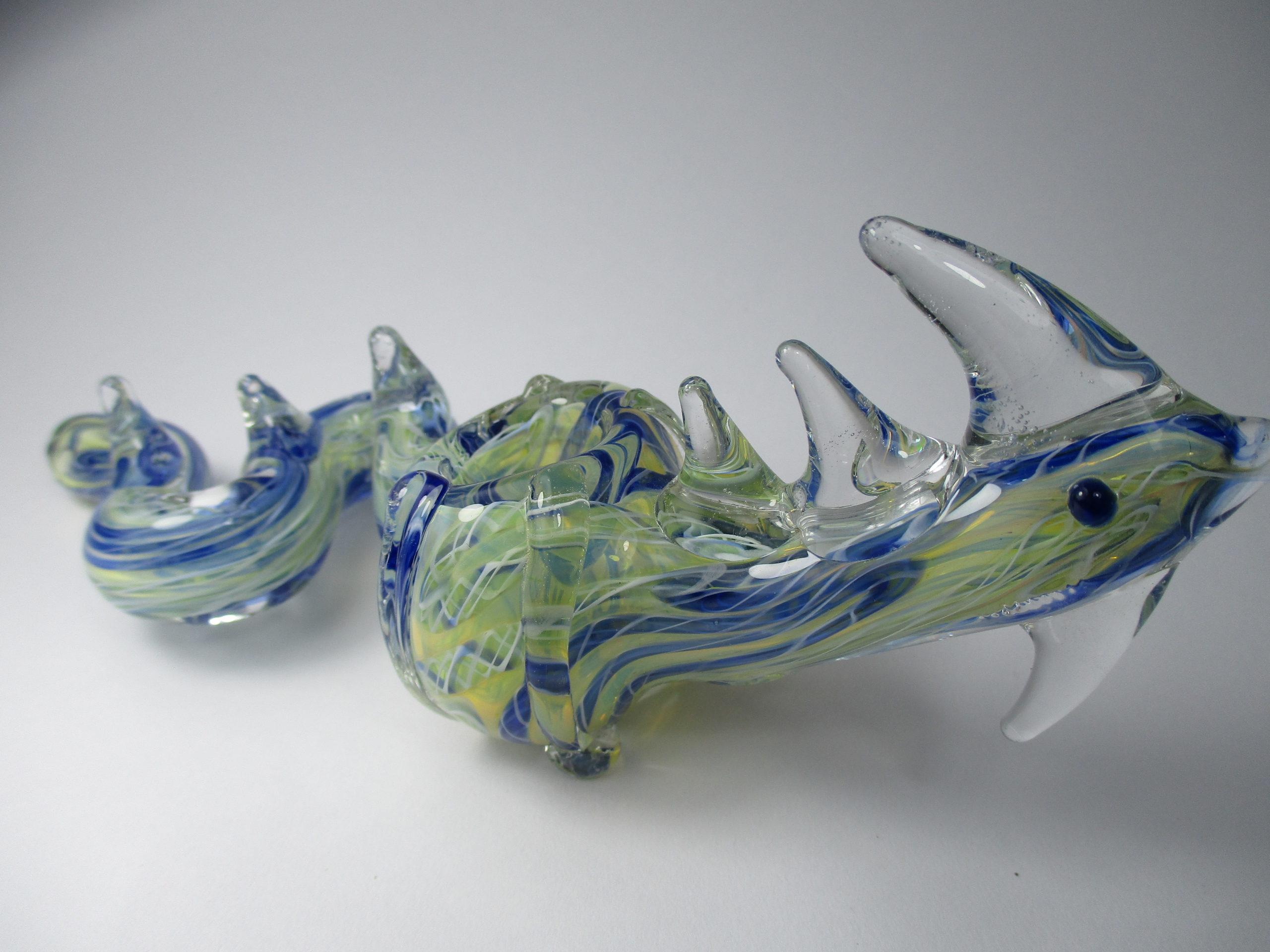 Pipa Dragon De Vidrio Artesanal